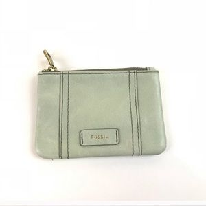 Fossil Key Fob Credit Card ID Holder Light Green